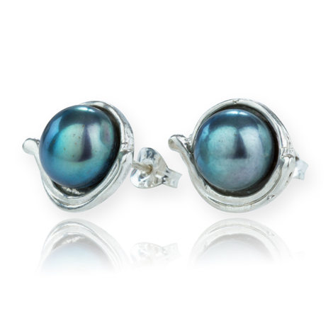 Sterling Silver Pearl Earrings | Image 1