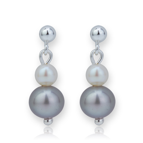 Multi Pearl Drop Earrings | Image 1