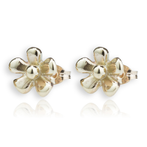 Gold Flower Stud Earring | Image 1