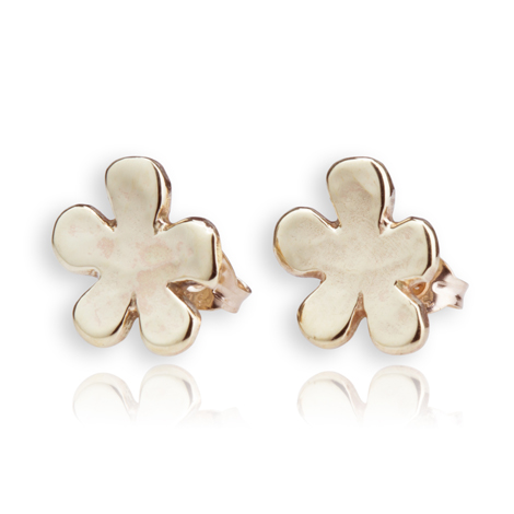 9ct Gold Daisy Stud Earrings | Image 1
