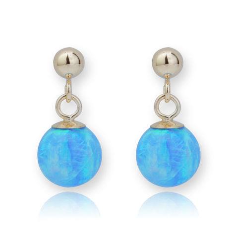 Opal and 9ct Gold Drop Earrings | Image 1