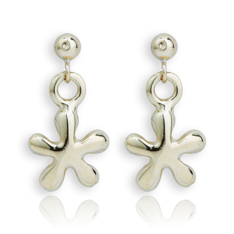 9ct Gold Daisy Drop Earrings | Image 1