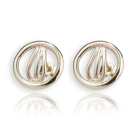 9ct Gold Contemporary Stud Earrings | Image 1