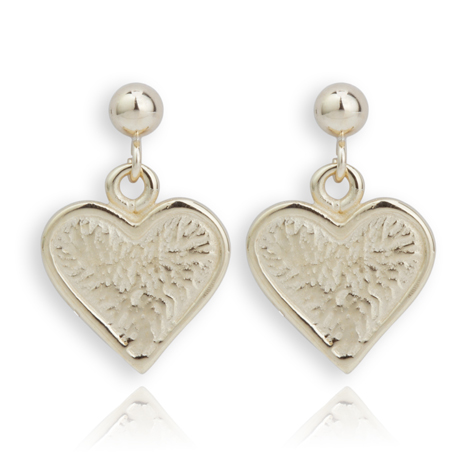 Handmade 9ct Gold Heart Earrings | Image 1