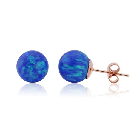 Gold Opal Stud Earrings | Image 1