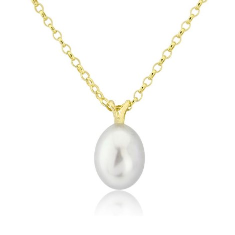9ct Gold  and White Pearl Pendant | Image 1