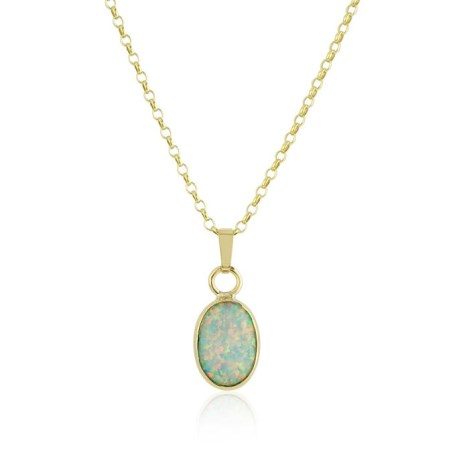 White Opal 9ct Gold Pendant | Image 1
