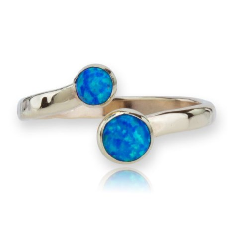 9ct Gold Adjustable Opal Ring | Image 1