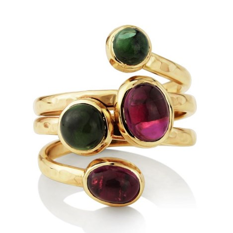 Green and Pink Tourmaline Ring | Image 1
