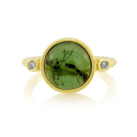 18ct Gold Champagne Diamond and Tourmaline Ring | Image 1