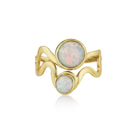 9ct Gold White Opal Ring | Image 1