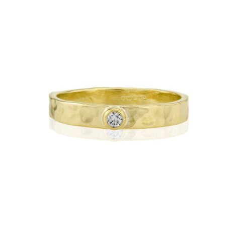 Handmade Diamond Gold Ring | Image 1