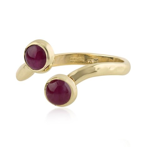 Gold Adjustable Ruby Ring | Image 1