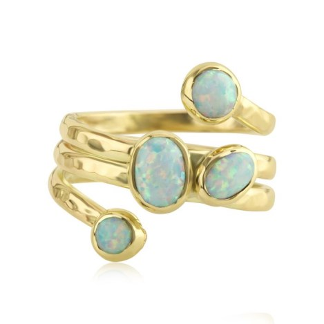 Gold and Opal Spiral Ring | Image 1