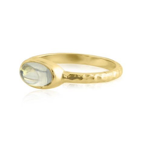 18ct Hammered Moonstone Ring | Image 1