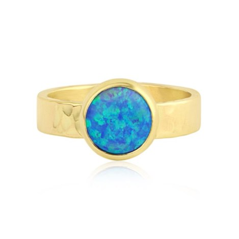 Handmade 9ct Gold Blue Opal Ring | Image 1