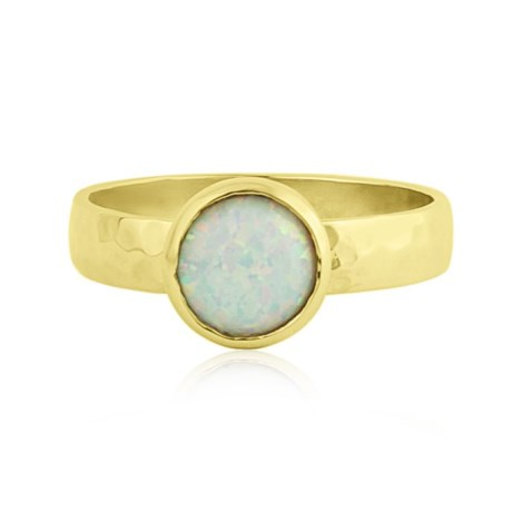 Handmade 9ct Gold White Opal Ring | Image 1
