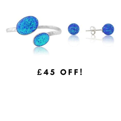 Dark blue Opal Bangle and Earring gift set sale price £248  | Image 1