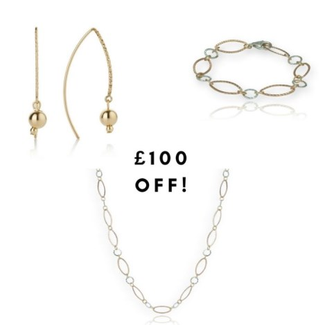 Gold and Silver interlinked gift set reduced Sale Price £240 | Image 1