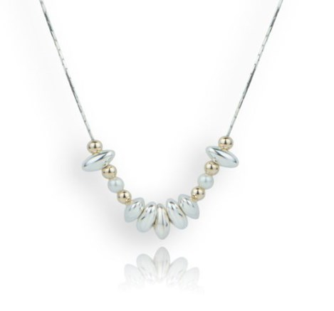 Gold and Silver and Pearl Necklace | Image 1