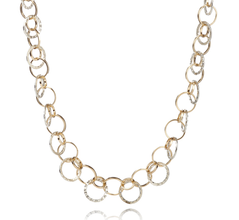 Gold and Silver Links Necklace | Image 1