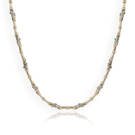 Gold and Silver Comtemporary Necklace | Image 1