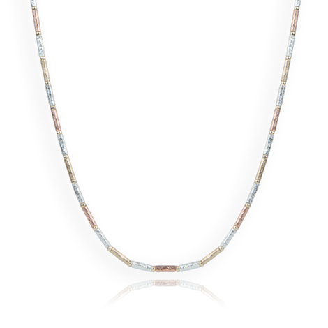 Gold and Silver Hammered Necklace | Image 1