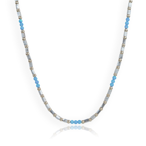 Handmade Gold and Silver Opal Necklace | Image 1