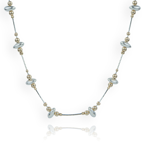 Gold and Silver Nugget Necklace | Image 1