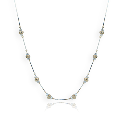 Rose and Yellow Gold and Silver Necklace | Image 1