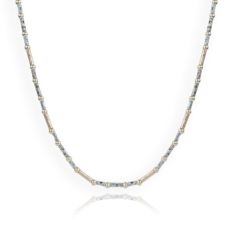 Gold and Silver Contemporary Necklace  | Image 1