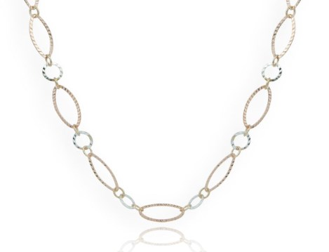 Elegant Silver and Gold interlinked Necklace was £175.00 now £89.00 | Image 1
