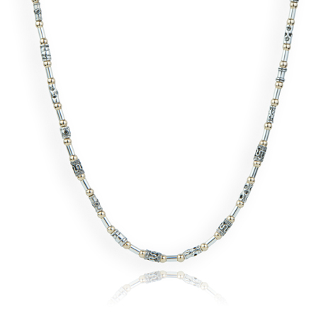 Silver and Gold Ethnic Necklace | Image 1