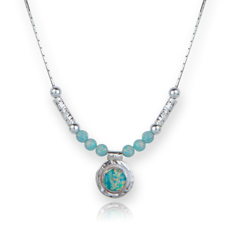 Steling Silver Green Opal Necklace | Image 1