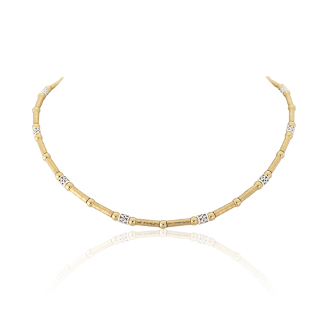 Gold and Silver Three Colour Necklace | Image 1