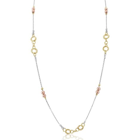 Silver Gold Link Necklace 28 inch | Image 1