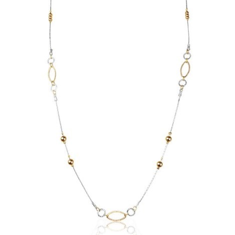 Silver Gold Link Necklace 32 inch | Image 1