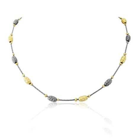 gold and silver oxidized necklace | Image 1