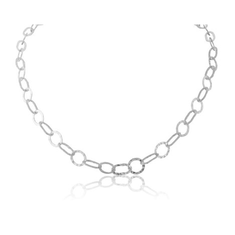 hammered link silver necklaces | Image 1
