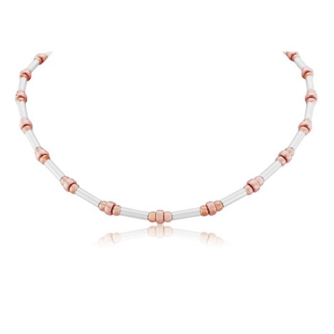 Silver and Rose Gold Necklace | Image 1