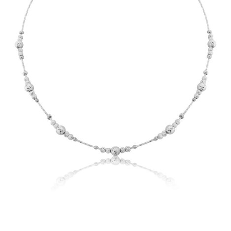 Silver Facet Bead Necklace | Image 1
