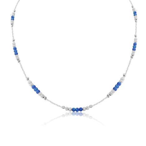 Silver Facet and Opal Bead Necklace | Image 1