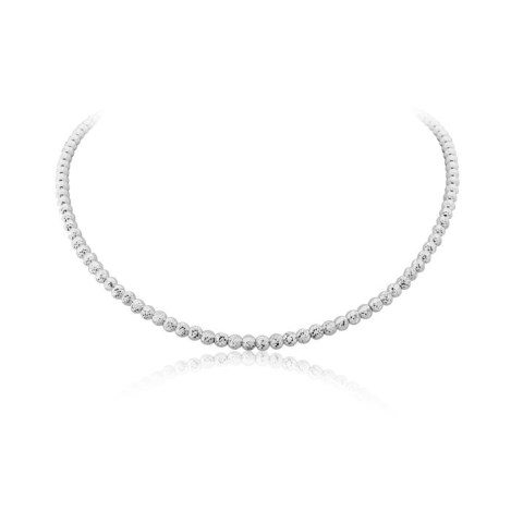 Silver Facet Necklace | Image 1