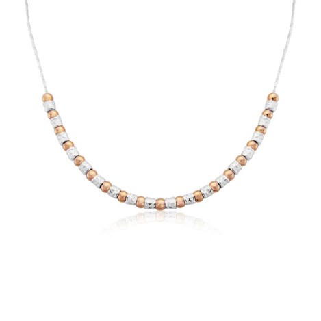 Contemporary Rose Gold and Silver Necklace | Image 1
