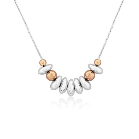 Rose Gold and Silver Nugget Necklace | Image 1