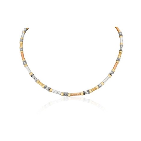 Three Tone Hammered Necklace | Image 1