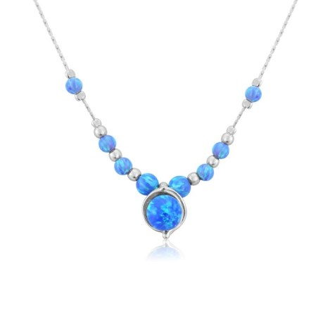 Beaded Blue Opal Necklace | Image 1