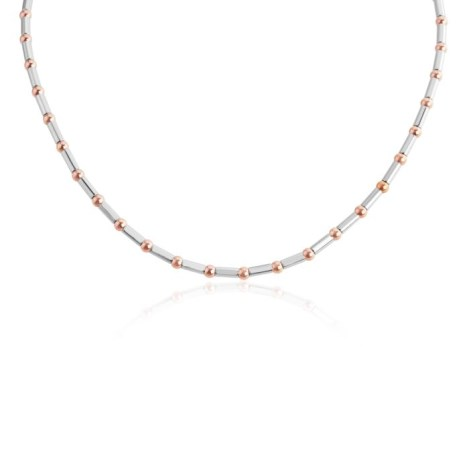 Sterling Silver and Rose Gold Necklace | Image 1