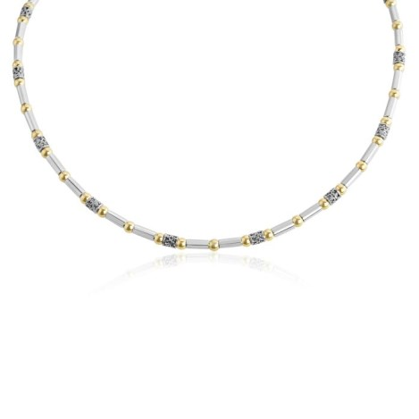 Gold and Silver Beaded Necklace | Image 1