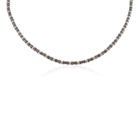 Rose Gold & Oxidized Silver Necklace | Image 1